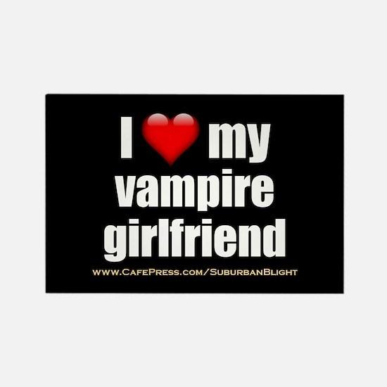 """Love My Vampire Girlfriend"" Rectangle Magnet"