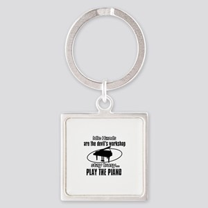 Play the piano Square Keychain
