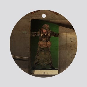 Ranger Jumpmaster Round Ornament