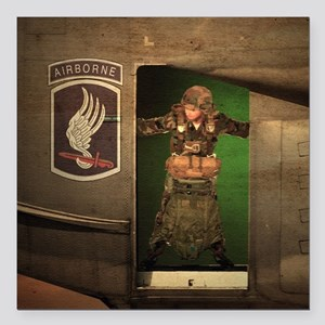 """173rd Jumpmaster Square Car Magnet 3"""" x 3"""""""