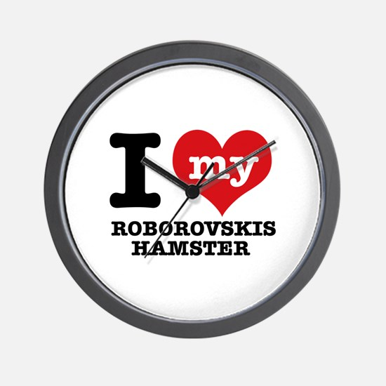 I love my Roborovski Hamster Wall Clock