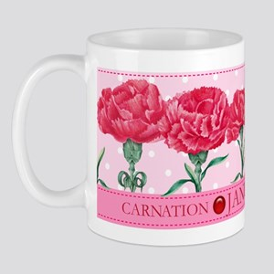 Birth Flowers and Gem Mug January