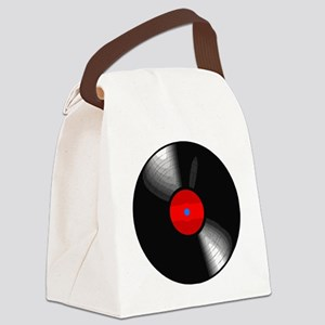 Vinyl Record Canvas Lunch Bag