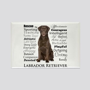 Chocolate Lab Traits Magnets