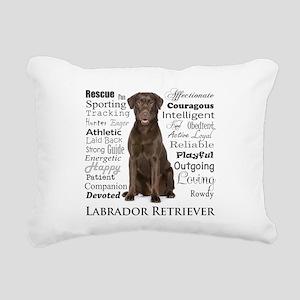 Chocolate Lab Traits Rectangular Canvas Pillow