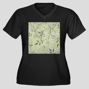 William Morris Jasmine Wallpaper Plus Size T-Shirt