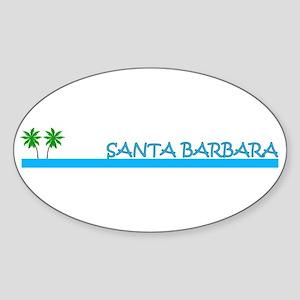 Santa Barbara, California Oval Sticker
