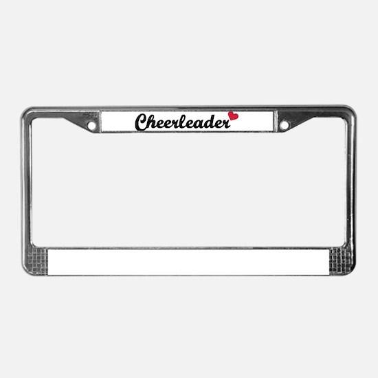 Cheerleader heart License Plate Frame