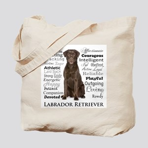 Chocolate Lab Traits Tote Bag
