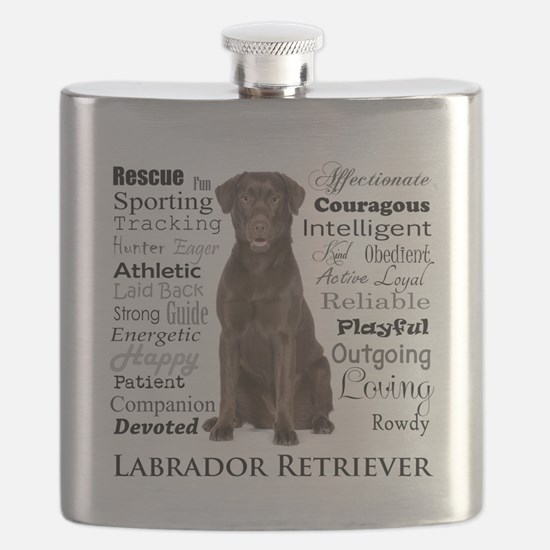 Chocolate Lab Traits Flask