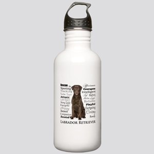 Chocolate Lab Traits Water Bottle