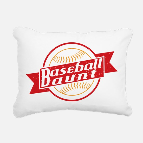 Baseball Aunt Rectangular Canvas Pillow
