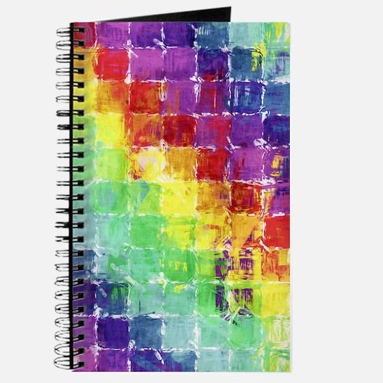 Geometric Squares Watercolor Journal