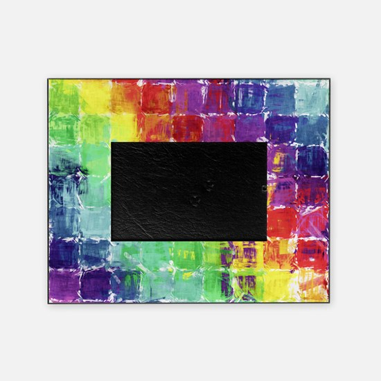 Geometric Squares Watercolor Picture Frame