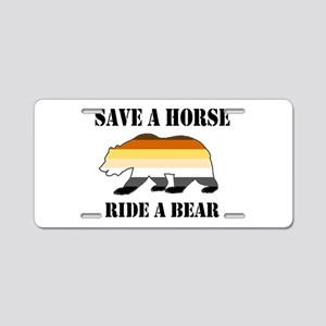 Gay Bear Save A Horse Ride Aluminum License Plate