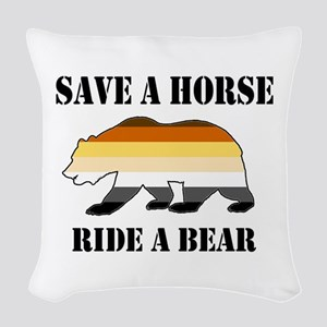 Gay Bear Save a Horse Ride a Bear Woven Throw Pill