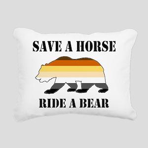 Gay Bear Save a Horse Ride a Bear Rectangular Canv