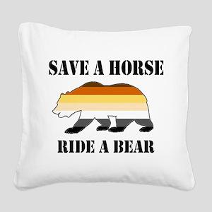 Gay Bear Save a Horse Ride a Bear Square Canvas Pi