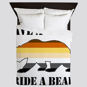 Gay Bear Save a Horse Ride a Bear Queen Duvet