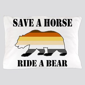 Gay Bear Save a Horse Ride a Bear Pillow Case