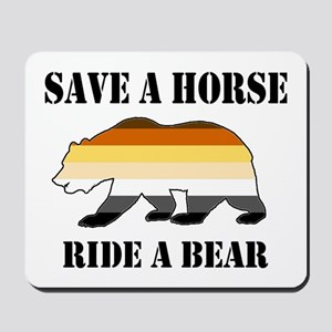 Gay Bear Save A Horse Ride A Bear Mousepad