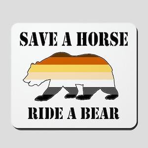 Gay Bear Save A Horse Ride A Bear Mousepad