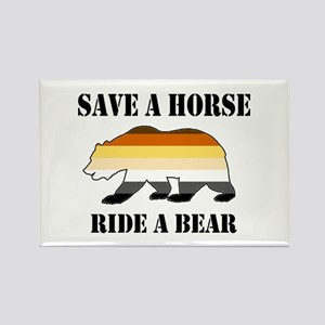 Gay Bear Save a Horse Ride a Bear Magnets