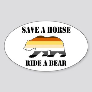 Gay Bear Save a Horse Ride a Bear Sticker