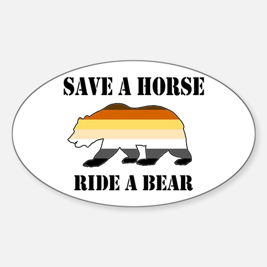 Gay Bear Save a Horse Ride a Bear Decal