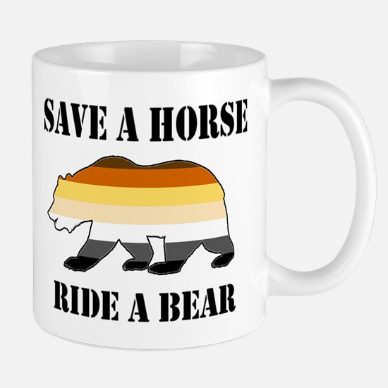 Gay Bear Save a Horse Ride a Bear Mugs