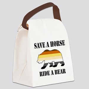 Gay Bear Save a Horse Ride a Bear Canvas Lunch Bag