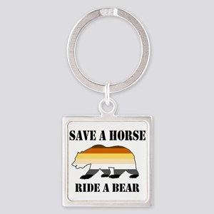 Gay Bear Save A Horse Ride A Bear Keychains