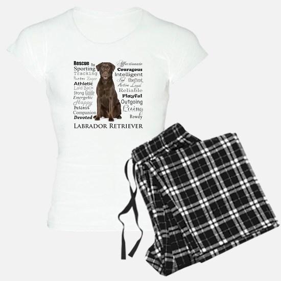 Chocolate Lab Traits Pajamas