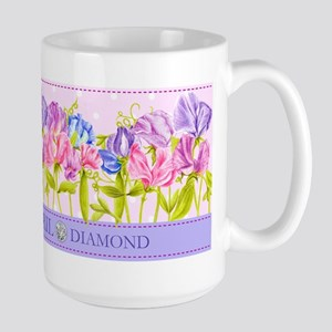 Birth Flower And Gem April Large Mug