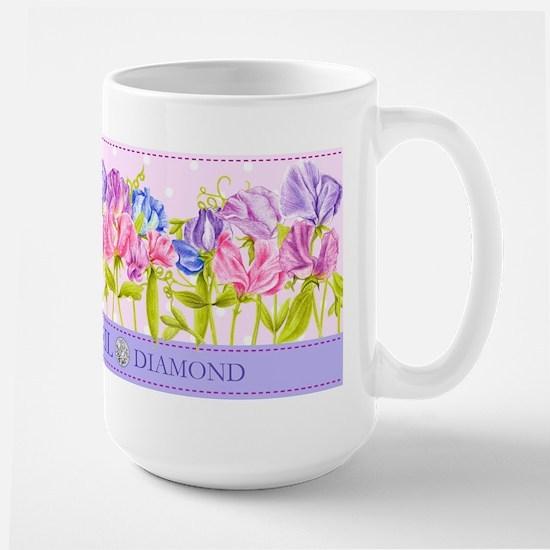 Birth Flower And Gem April Large Mug