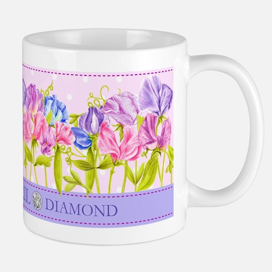 Birth Flowers and Gem Mug April