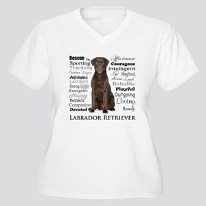 Chocolate Lab Traits Plus Size T-Shirt