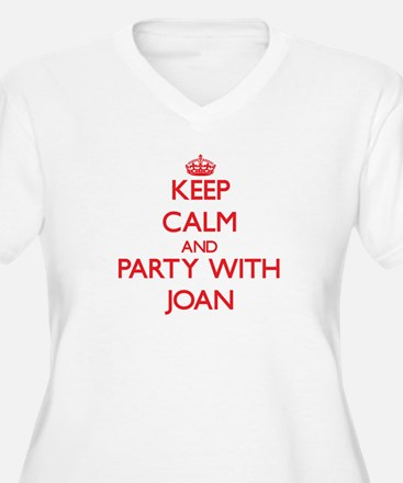 Keep Calm and Party with Joan Plus Size T-Shirt