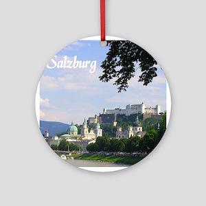 Salzburg souvenir Ornament (Round)