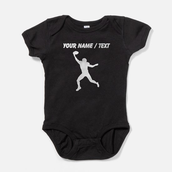 Custom Football Wide Receiver Silhouette Baby Body
