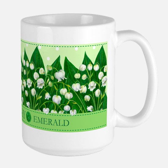Birth Flower And Gem May Large Mug