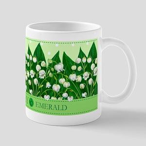 Birth Flowers and Gem Mug May