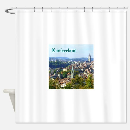 Switzerland Swiss souvenir Shower Curtain
