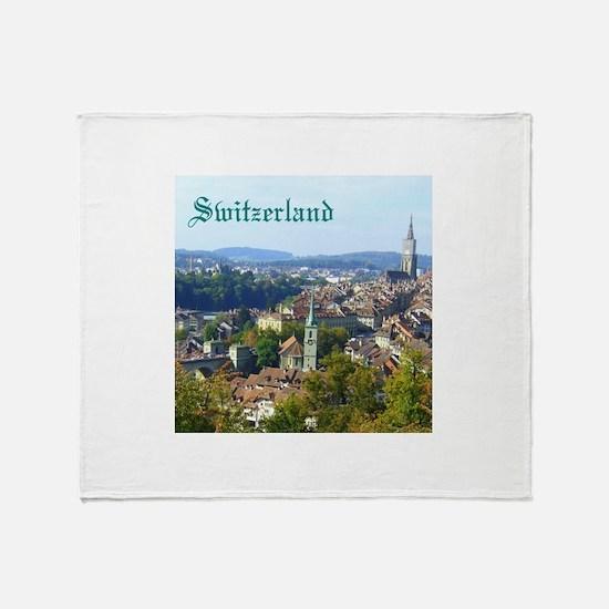 Switzerland Swiss souvenir Throw Blanket