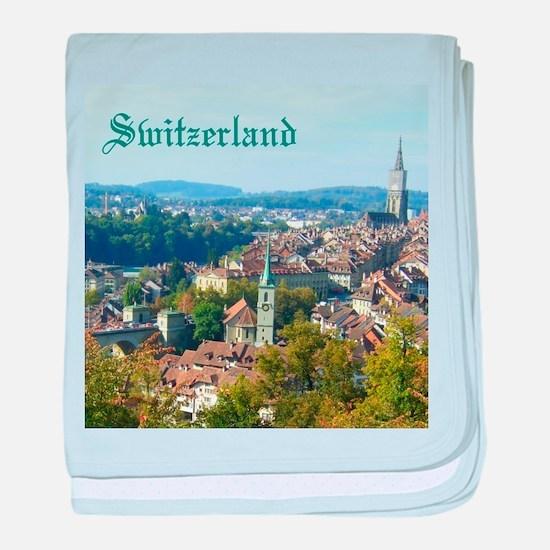 Switzerland Swiss souvenir baby blanket