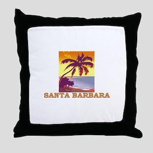 Santa Barbara, California Throw Pillow