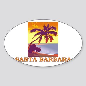 Santa Barbara, California Oval Sticker