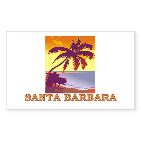 Santa Barbara, California Rectangle Sticker