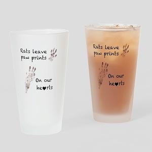 paw prints Drinking Glass