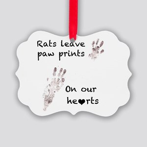 Paw Prints Picture Ornament